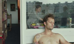 Eddie's (Nicolas Duvauchelle) ambition is held in a vice. With Karine (Mélanie Thierry)